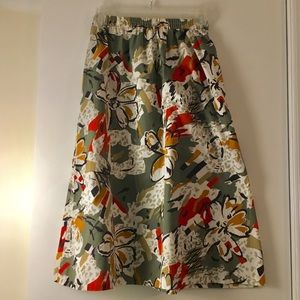 VTG Fall Abstract Floral Skirt